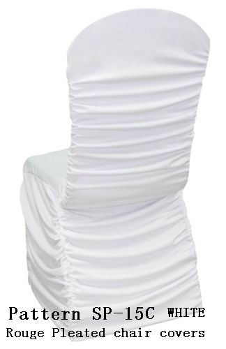 Latex Spandex Chair Covers Metallic Organza Sash Chair