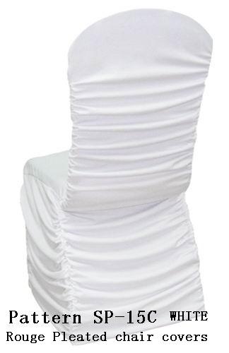 Latex Spandex Chair Covers Metallic Organza Sash Chair Covers Direct